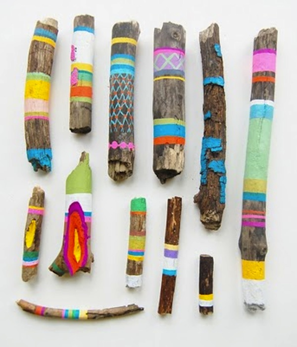 6.painted-sticks-by-ginette-lapalme-600x700